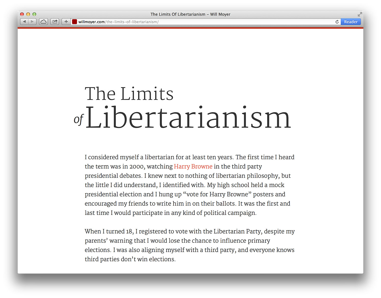 Limits of Libertarianism Article